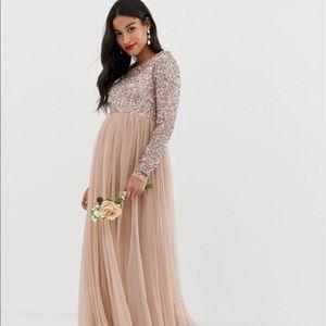 ASOS Maya Maternity Sequin Dress